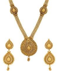 gold long necklace set images Productsgolden traditional long necklace set jewellery store buy jpg