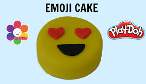 play doh how to make an emoji cake pastel emoji de plastilina