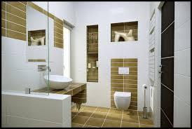 Bathroom In Wall Shelves Bathroom Nice Modern Bathroom Tile Ideas With Built In Shelves