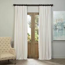 White Taffeta Curtains Half Price Drapes Bellacor