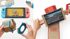 accessories for nintendo reveals labo diy cardboard accessories for the switch