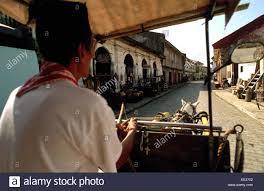 philippine kalesa kalesa ride horse carriage crisologo street ilocos vigan stock