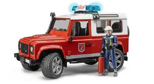 land rover discovery drawing buy bruder land rover defender fire department vehicle with
