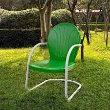 crosley griffith metal chair in grasper green