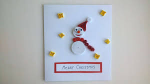 how to make a christmas card with a snowman diy crafts tutorial