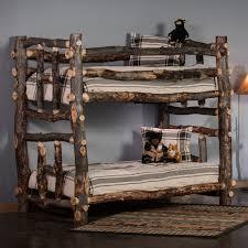 Rustic Bunk Bed Rustic Aspen Rustic Bunk Bed