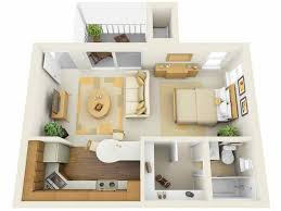 Efficiency Apartment Ideas 3d Floor Plans For Efficiency Apartments Apartment Suite
