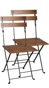 Buy French Café Bistro Folding Side Chair With Chestnut Wood Slats