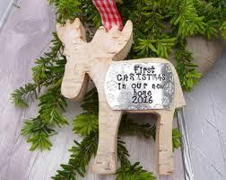 Christmas Moose Home Decor Wood Reindeer Etsy