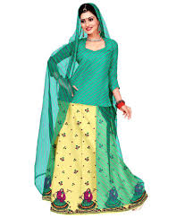 rajputi dress rajputi poshak green cotton dress material set of 3 buy rajputi