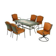 Martha Stewart 7 Piece Patio Dining Set - martha stewart living mallorca ii 7 piece patio dining set was