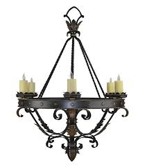 Forged Chandeliers Custom Wrought Iron Lights Forged Chandeliers Hacienda Lights