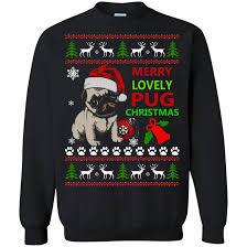 pug sweater merry lovely pug sweater hoodie teedragons