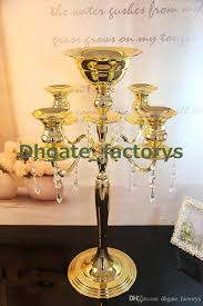 h75cm w48cm gold color 5 heads crystal candelabra candle