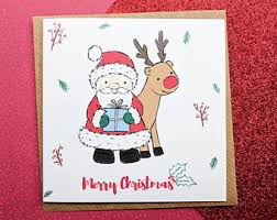 santa card etsy