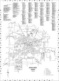 Ohio City Map The County Of Ashland