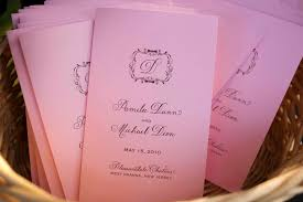 creating a wedding program a complete guide to creating your wedding programs inside weddings
