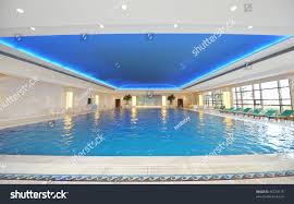 luxury indoor swimming pool beautiful clean stock photo 45723175