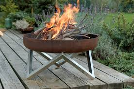 Outdoor Patio Firepit by Buy A Hand Made Rust U0026 Stainless Steel Modern Outdoor Patio Fire