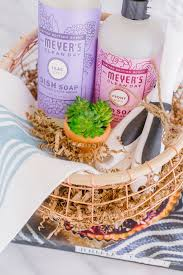 Thinking Of You Gift Baskets Spring Cleaning Or Housewarming Gift Basket With Mrs Meyer U0027s