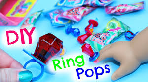 diy american doll ring pops