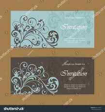beautiful wedding invitations vintage floral elements stock vector