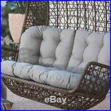 resin wicker hanging porch swing loveseat cushion 2 seat outdoor