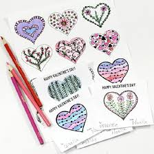 s day cards for classmates printable hearts coloring page and s day cards for kids to