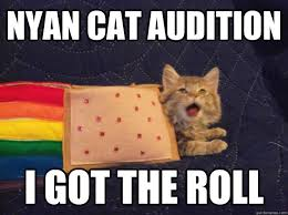 Nyan Cat Meme - nyan cat audition i got the roll nyan cat audition quickmeme