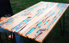 How To Draw A Picnic Table How To Make A Stunning Wooden Table With Glow In The Dark Resin