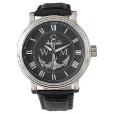 Nautical Themed Watches - men u0027s anchor watches zazzle