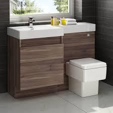 Bathroom Vanity Units With Sink 1200mm Walnut Vanity Unit Square Toilet Bathroom Sink Left