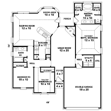 one story floor plan single level house plans one story great room small with open