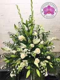 wedding flowers manchester all white wedding arrangement rodgers the florist