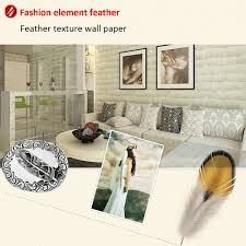 Feather Home Decor 10m Non Woven Feather Wallpaper Living Room Bedroom Background