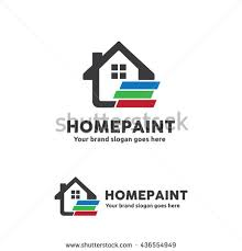 Home Decoration Logo Car Paint Spray Gun Logo Template Stock Vector 435811714