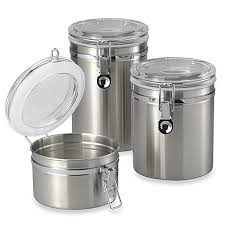 stainless kitchen canisters oggi bed bath beyond