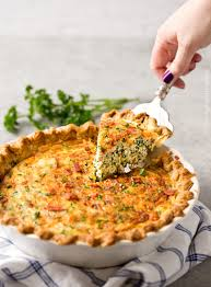 Quiche Blind Bake Or Not Basic Cheesy Spinach Quiche With Bacon The Chunky Chef