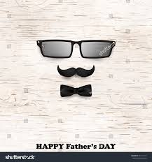 happy fathers day concept glasses tie stock illustration 641312413