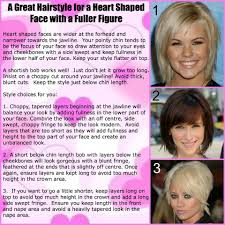 hairstyles that look flatter on sides of head hairstyles for a heart shaped face and a fuller figure http www