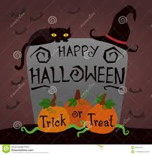 happy halloween trick or treat pumpkin stock vector image 46331159