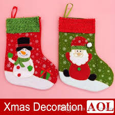 new year mini socks santa claus gift bag