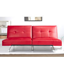 futons aspen futon sofa red leather