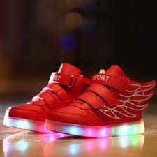 Kids Light Up Shoes Kids Light Up Shoes Usb Charging Children Shoes With Wings Casual