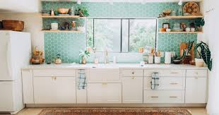 white kitchen cabinets with aqua backsplash design trends styling your kitchen with open fireclay tile