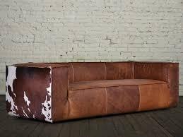 mondo sofa mondo leather and cowhide sofa by cococo home shopnobby