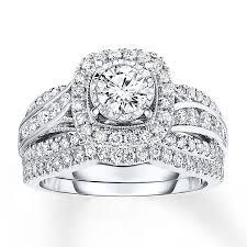 100000 engagement ring bridal set 1 3 8 ct tw cut 14k white gold