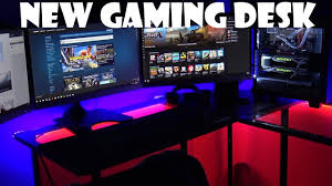 diy gaming desk ajmanntech youtube