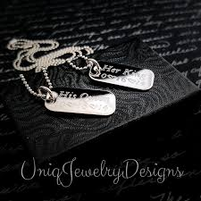his and hers dog tags king my mini dog tags necklace set uniqjewelrydesigns