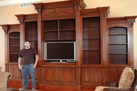 Built In Gun Cabinet Plans Wall Units Awesome Custom Built Home Entertainment Center Built